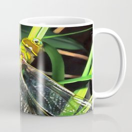 Blue Dragonfly Wings Coffee Mug