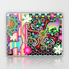 Mandalas, Cats & Flowers Fantasy Pattern Laptop & iPad Skin