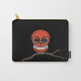 Baby Owl with Glasses and Austrian Flag Carry-All Pouch
