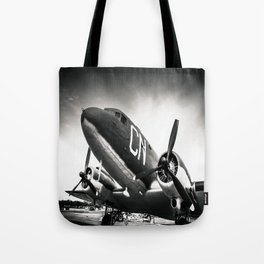 C-47D Skytrain Black and White Tote Bag