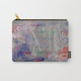 flower pattern color explosion Carry-All Pouch