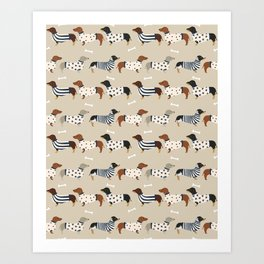 Dachshund doxie sweaters cute dog gifts dog breed dachsie owners must haves Art Print