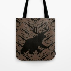 Bear with Buck Horns Tote Bag