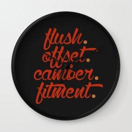 flush offset camber fitment v1 HQvector Wall Clock