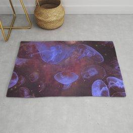 Purple Jellyfish Galaxy Rug