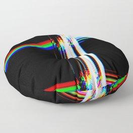 rainbow crack Floor Pillow