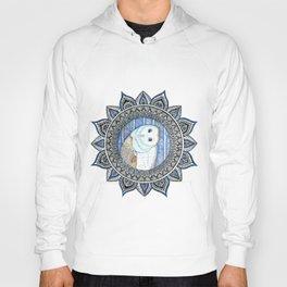 Winter Barn Owl Mandala Hoody