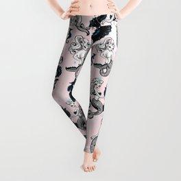 Pearla the Mermaid on Pink Leggings