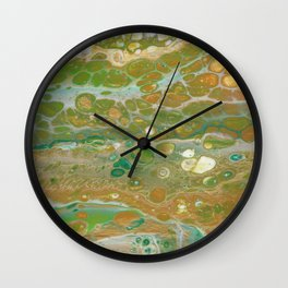 Forest in spring Wall Clock