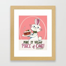 Piece of cake Framed Art Print