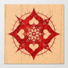 lianai hearts redstone mandala Canvas Print