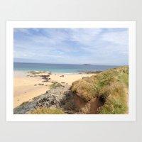 Cornwall Beach Art Print