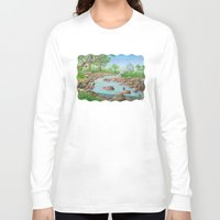 river Long Sleeve T-shirts featuring  river  by Amy Fan