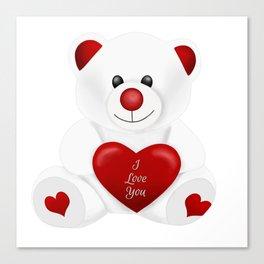 Valentine Love Bear Canvas Print