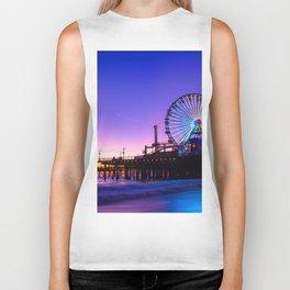 Santa Monica purple sunset Biker Tank