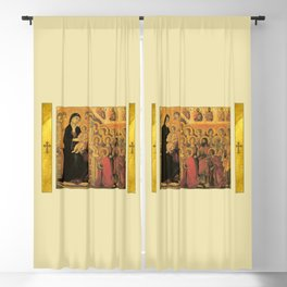 Saint Mary Religious Scene - Gothic Blackout Curtain