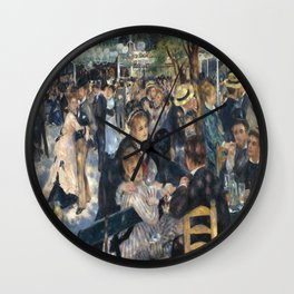 Pierre-August Renoir's Bal du moulin de la Galette Wall Clock
