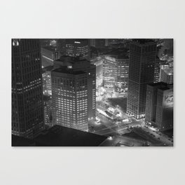 Woodward Avenue from Above Canvas Print