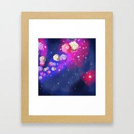 Galaxy Roses Framed Art Print