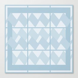 caged Blue Canvas Print