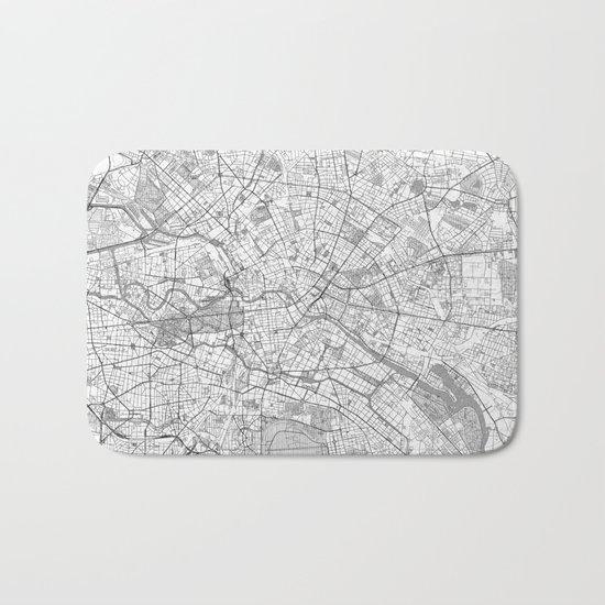 Berlin Map Line Bath Mat
