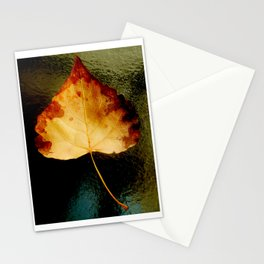 """Glass Leaf"" Stationery Cards"