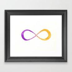 infinite (purple/yellow) Framed Art Print