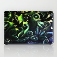 duvet cover iPad Cases featuring LONELY FOREST DUVET COVER by aztosaha