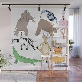 safari animal yoga Wall Mural