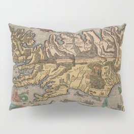 Antique Map Of Iceland 1603 Pillow Sham