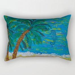 Tropical Beach Rectangular Pillow