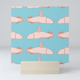 Laying Down Sea Lion Pattern Mini Art Print