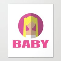 spice girls Canvas Prints featuring BABY SPICE by Chilli Cactus