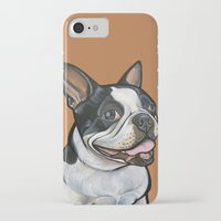 snoopy iPhone & iPod Cases featuring Snoopy the Boston Terrier by Pawblo Picasso