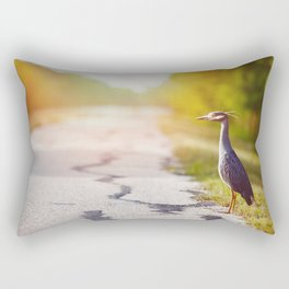 Night Heron Waiting for His Ride Rectangular Pillow