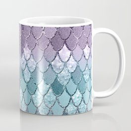 Mermaid Scales Navy Blue Teal Purple Glam #1 #shiny #decor #art #society6 Coffee Mug