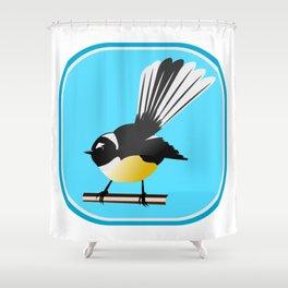 Fantail NZ BIRD Shower Curtain