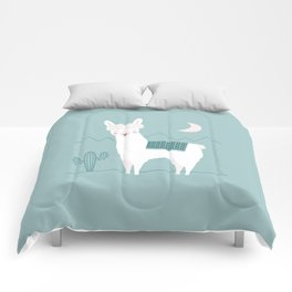 Alpaca In The Mountains Comforters