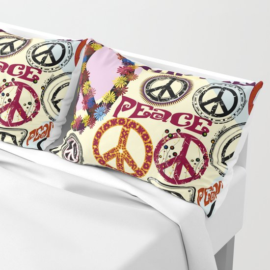 Flower Power Peace Signs Coctail by pixelstory