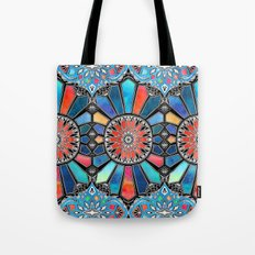 Iridescent Watercolor Brights on Black Tote Bag