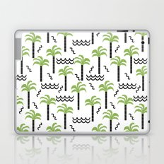 Palm trees tropical minimal ocean seaside socal beach life pattern Laptop & iPad Skin