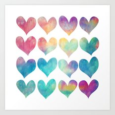 A Colorful Kind Of Love  Art Print
