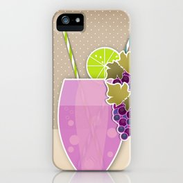 """Picture. The grape juice. From a set of paintings. The """"kitchen"""". iPhone Case"""