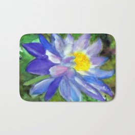 Blue Violet Lotus flower Bath Mat