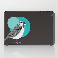 sparrow iPad Cases featuring Sparrow by Rachel Russell