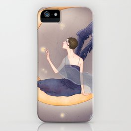 Midnight fairy iPhone Case