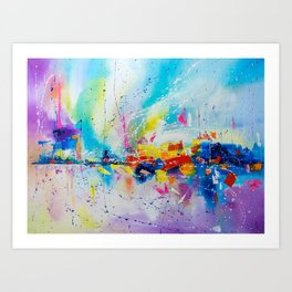 Travel of color Art Print