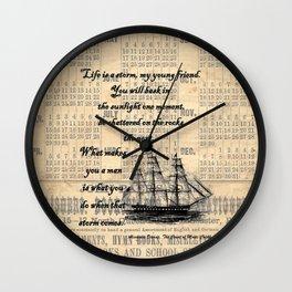 Count of Monte Cristo quote Wall Clock