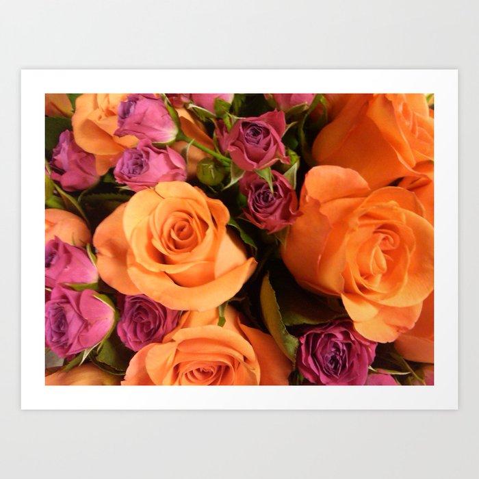 Orange Roses Art Print