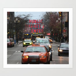 Pike Place Market Photography Print Art Print